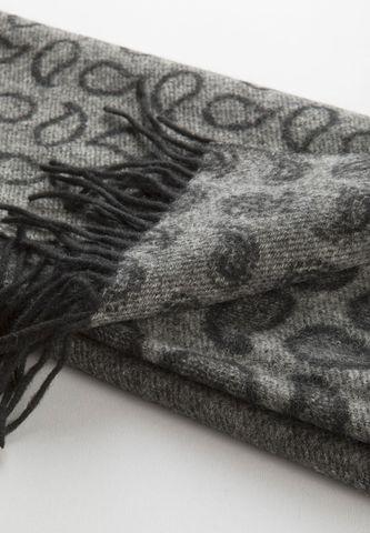 Sciarpa grigia lana gocce nere Angelico
