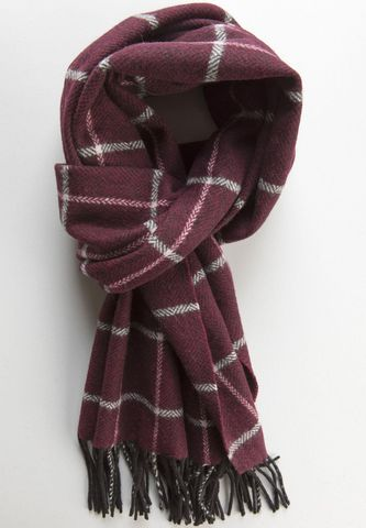 burgundy scarf squared pattern Angelico