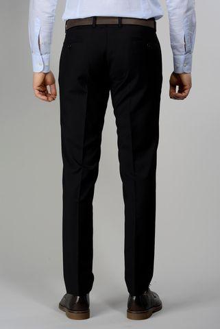black wool trousers wool 100s Angelico