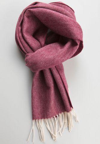sciarpa lampone resca lana con frange Angelico