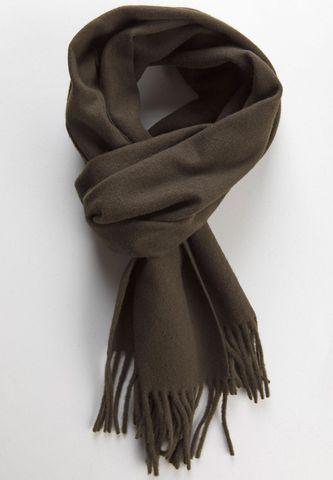 Sciarpa marrone lana con frange Angelico