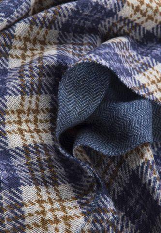 indigo-brown scarf oblique checkered pattern Angelico