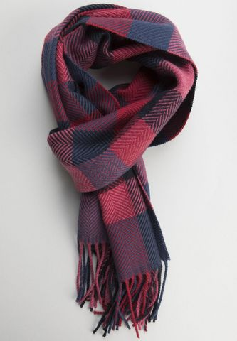 blue-raspberry wool square scarf Angelico