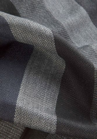 black-grey scarf with wide stripes Angelico