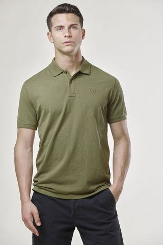 olive green polo shirt embroidered logo Angelico