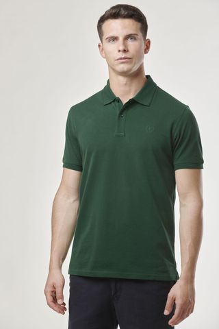 forest green polo shirt embroidered logo Angelico