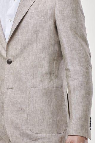 natural linen jacket slim Angelico