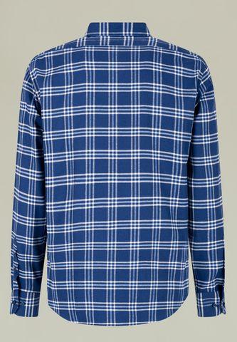 camicia flanella scozzese bluette-azzurra Angelico
