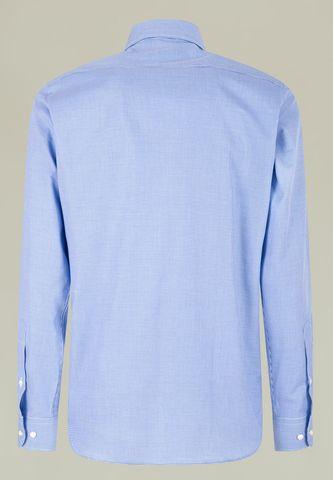 camicia bluette micro piedpoule Angelico