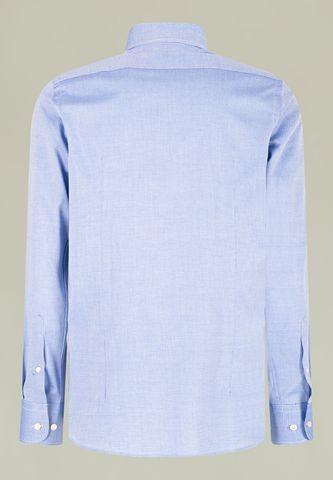 camicia bluette microdisegno pois slim Angelico