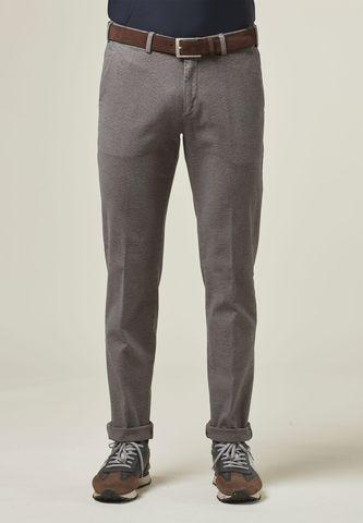 Pantalone grigio sale pepe effetto lana Angelico