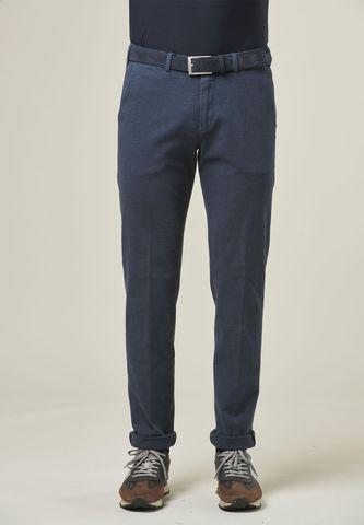 Pantalone blu sale pepe effetto lana Angelico