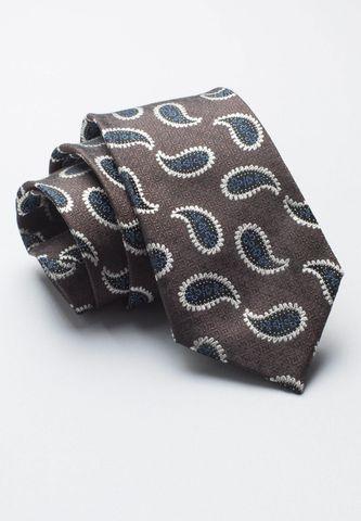 cravatta moro seta fantasia blu cachemire Angelico