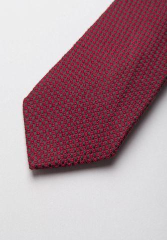 cravatta bordeaux-blu lana-seta jacquard Angelico