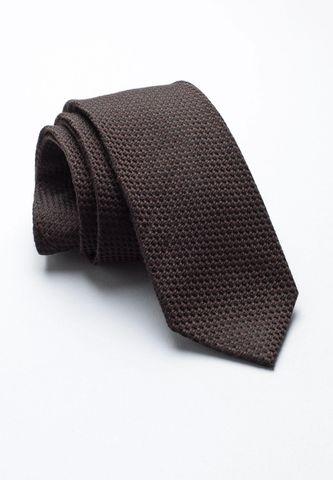 cravatta moro unita lana-seta jacquard Angelico