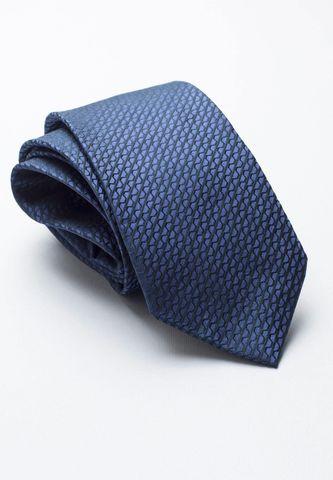 cravatta blu chiaro unita seta jacquard Angelico