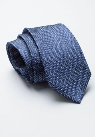 cravatta bluette seta microquadretto blu Angelico