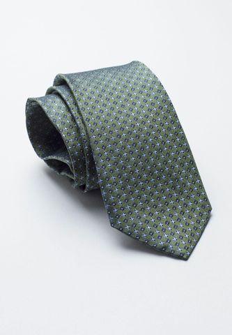cravatta verde seta fantasia croci azzurre Angelico