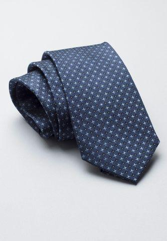 cravatta blu seta fantasia croci azzurre Angelico