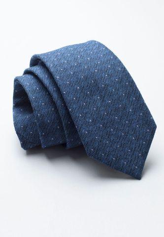 cravatta bluette pois grigi seta Angelico