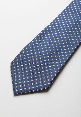 cravatta blu seta pois medi grigi Angelico