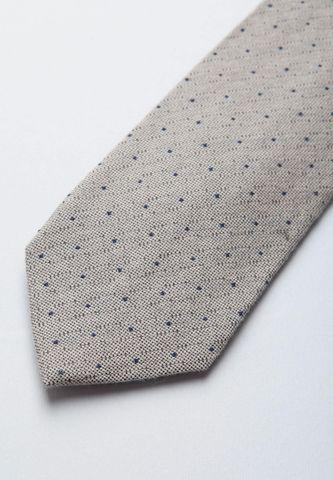 cravatta mastice pois blu lana-seta Angelico