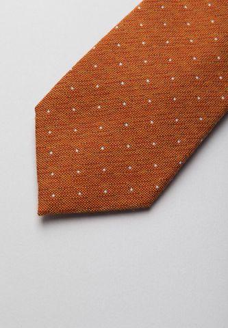 cravatta arancio pois perla lana-seta Angelico
