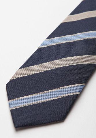 cravatta blu-azzurro-grigio regimental lana-seta Angelico
