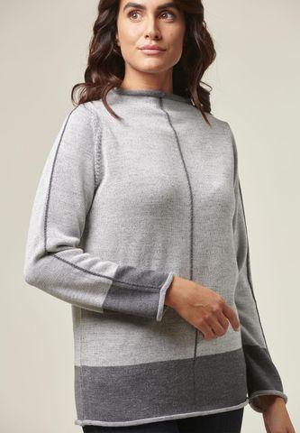 maglia grigio chiaro melange vulcano Angelico