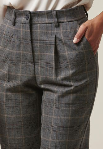pantalone grigio-moro galles pinces aperta Angelico