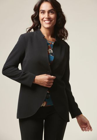 Black 1 button long jacket Angelico