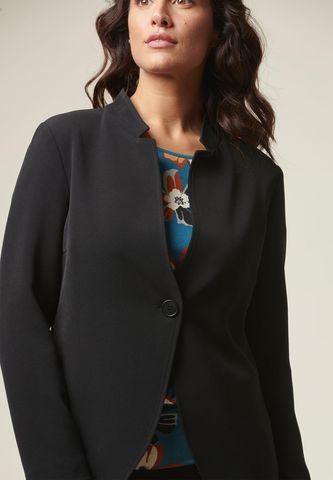 giacca nera lunga coreana 1 bottone Angelico