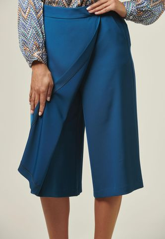 teal skirt-trousers Angelico