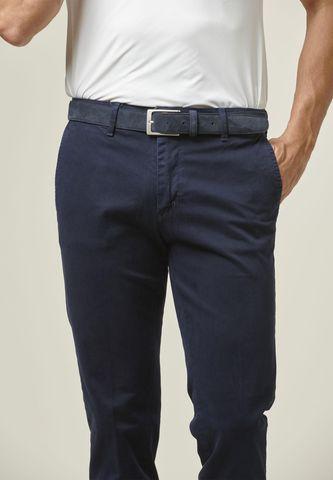 pantalone blu cotone tinto capo gabardina Angelico