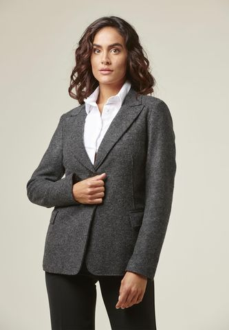 Charcoalgray wool fitted jacket Angelico