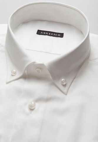 camicia bianca oxford b.d. slim Angelico