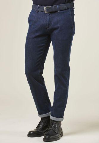 Dark blue denim jeans side pockets slim Angelico