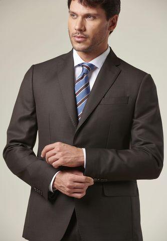 brown suit bird-eyes flli cerruti fabrics slim Angelico