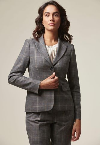 Gray-brown short wales jacket Angelico