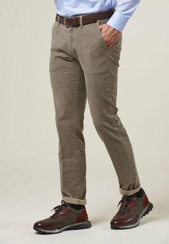 Beige Wales moleskin trousers slim Angelico