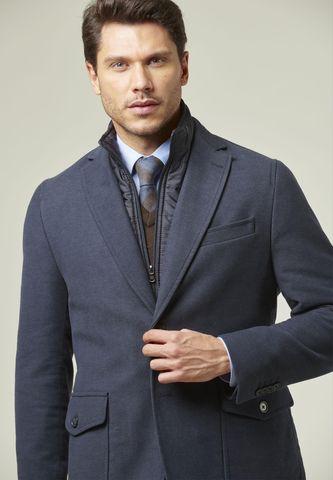 blue moleskin over-jacket bib Angelico