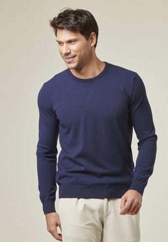 pullover blu elasticizzato viscosa Angelico