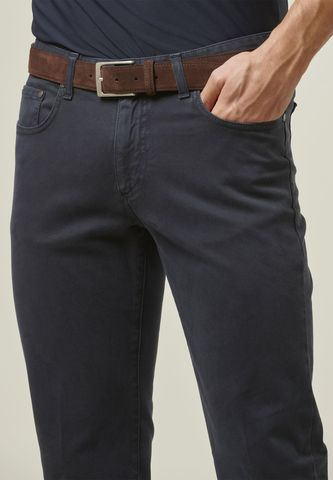 navy trousers 5 pockets gabardina dyed Angelico