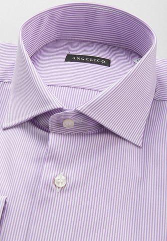 camicia glicine millerighe comoda francese Angelico