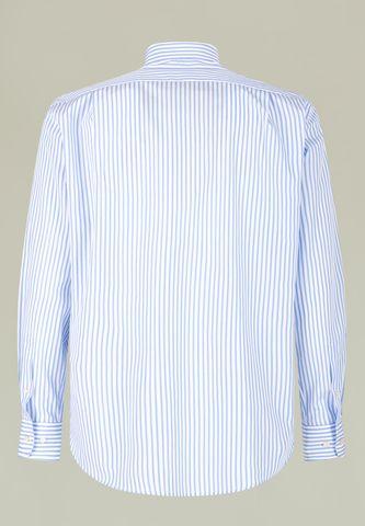 camicia bianca righe azzurre bd comoda Angelico