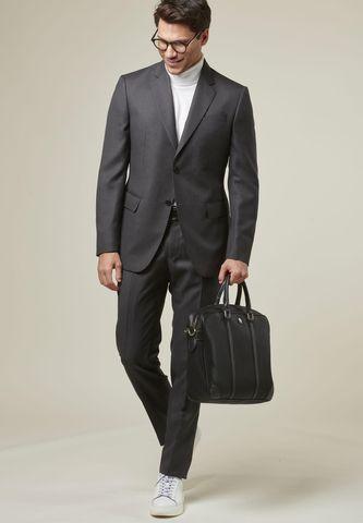 charcoal suit birdseye flli cerruti fabrics Angelico