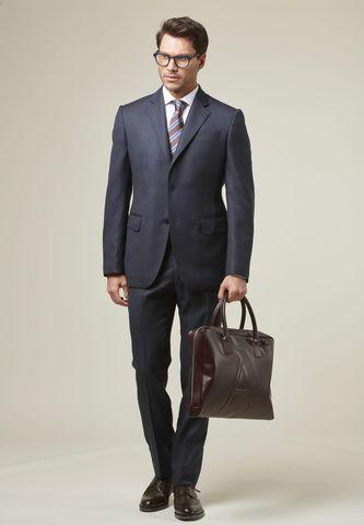 blue suit birdseye flli cerruti fabrics Angelico