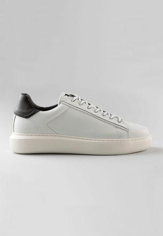 sneakers bianca bassa in pelle Angelico
