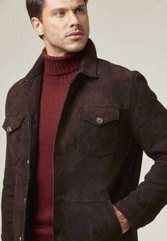 saharan brown suede jacket Angelico