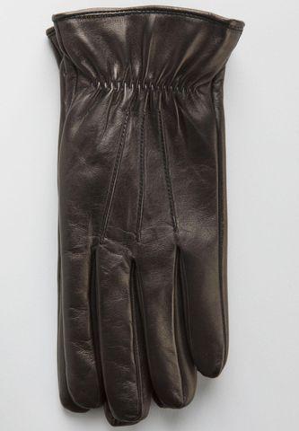 guanti neri nappa foderati lana Angelico